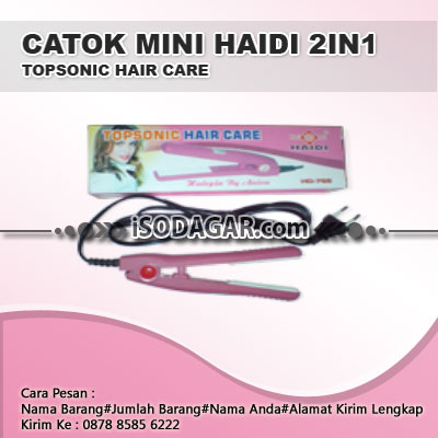 Catok Mini Haidi 2in1 Topsonic Hair Care
